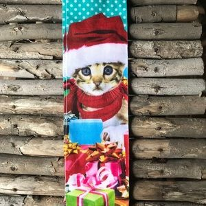 Crazy Kitten Christmas Socks